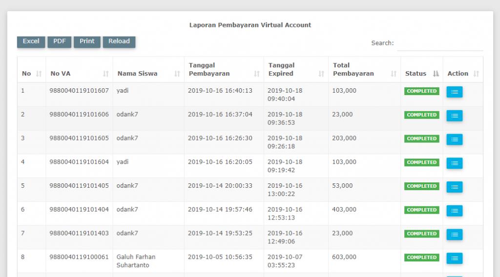 Virtual Account Pesantren